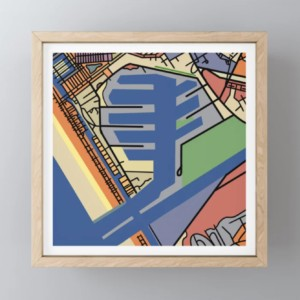 Marina Del Rey Map by Ron Braverman